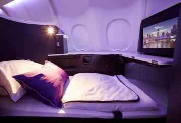 Virgin Australia's new A330 Business Class. Photo: Virgin Australia
